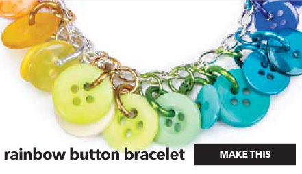 Rainbow Button Bracelet. Make This.