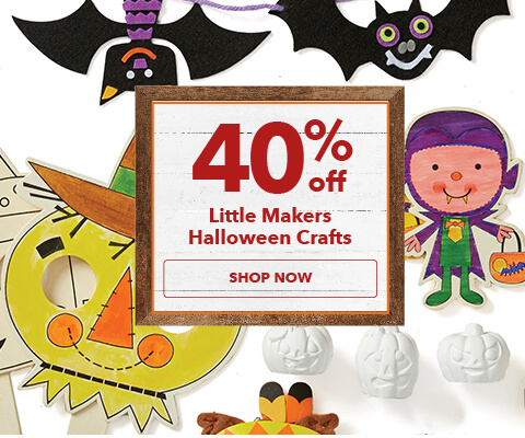 40% off Little Makers Halloween Crafts. Shop Now.