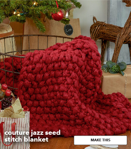 Couture Jazz Seed Stitch Blanket. Make This.