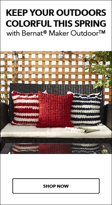 NEW! Bernat Outdoor Yarn for outdoor decor & craft projects