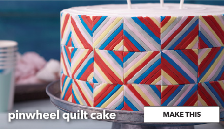 How To Make A Pinwheel Quilt Cake. Make This.