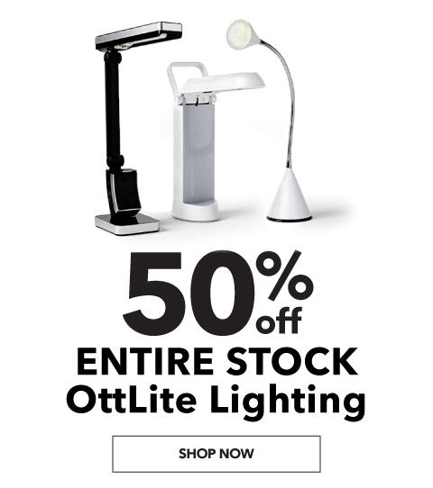 50% off. Entire stock. Ottlite Lighting. Shop Now.