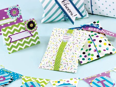 Paper Crafted Party Supplies.