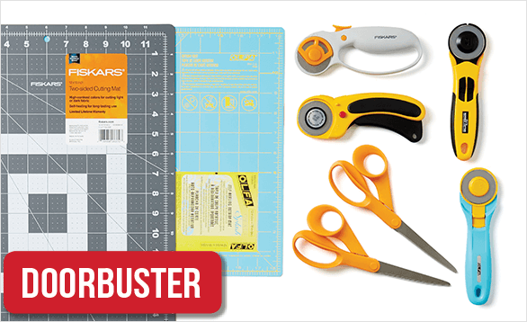 40% Off ENTIRE STOCK Sewing & Quilting Cutting Tools and Rotary Cutting Tools & Mats. Shop Now.
