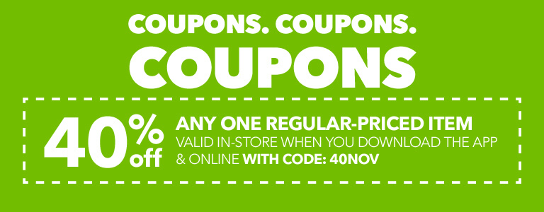 FINAL DAY! 50% Off any one regular-priced item when you download the app with code: CORNBREAD!