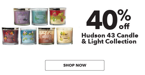 40% off Hudson 43 Candle and Light Collection. Shop Now.