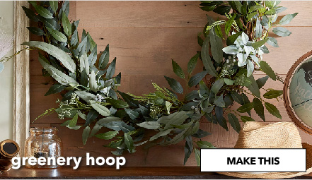 How To Make A Greenery Hoop. Make This.