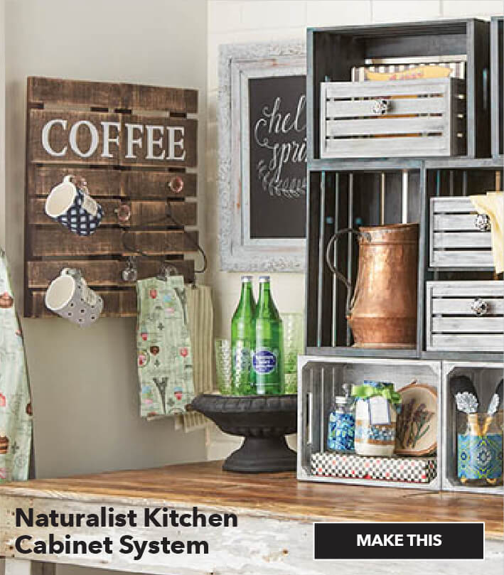 Naturalist Kitchen Cabinet System. Make This.