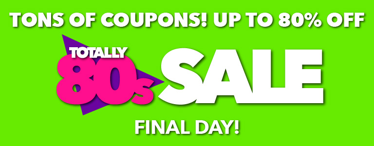 Totally 80's sale! $.80 fabric quarters in-store only plus lots more coupons