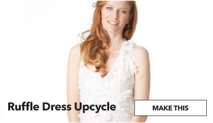 Ruffle Dress Upcycle. Make This.