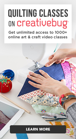 Sign up for Quilting Classes with Creativebug.