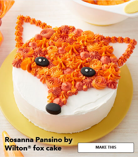 Rosanna Pansino By Wilton Fox Cake. Make This.