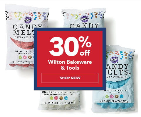 30% off Wilton Bakeware and Foodcrafting Supplies. Shop Now.