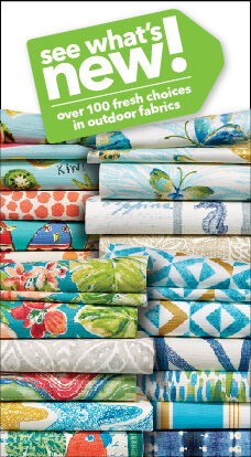 JOANN has all new outdoor fabric designs to match your decor this summer