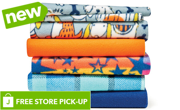 NEW! Blizzard Fleece Solids and Prints. BUY ONLINE, PICK-UP IN-STORE