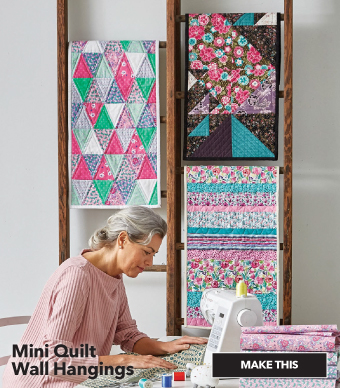How to Make Mini Quilt Wall Hangings. Make This.