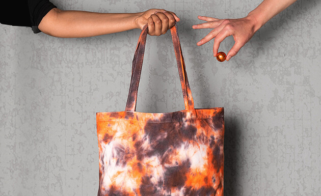 image of tie dyed treat bag