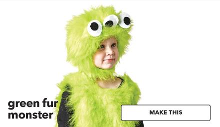 Green fur monster. Make This.