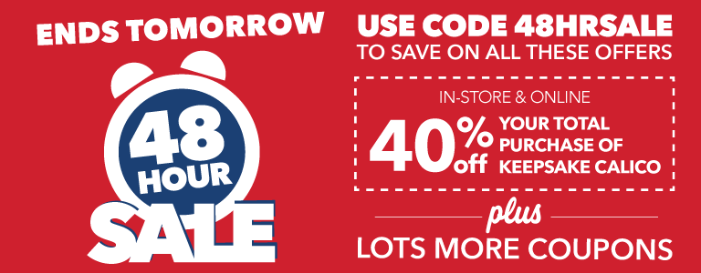 Use code 48hoursale to get tons of great coupons!