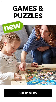 New kids games & puzzles are available for family fun night, at JOANN