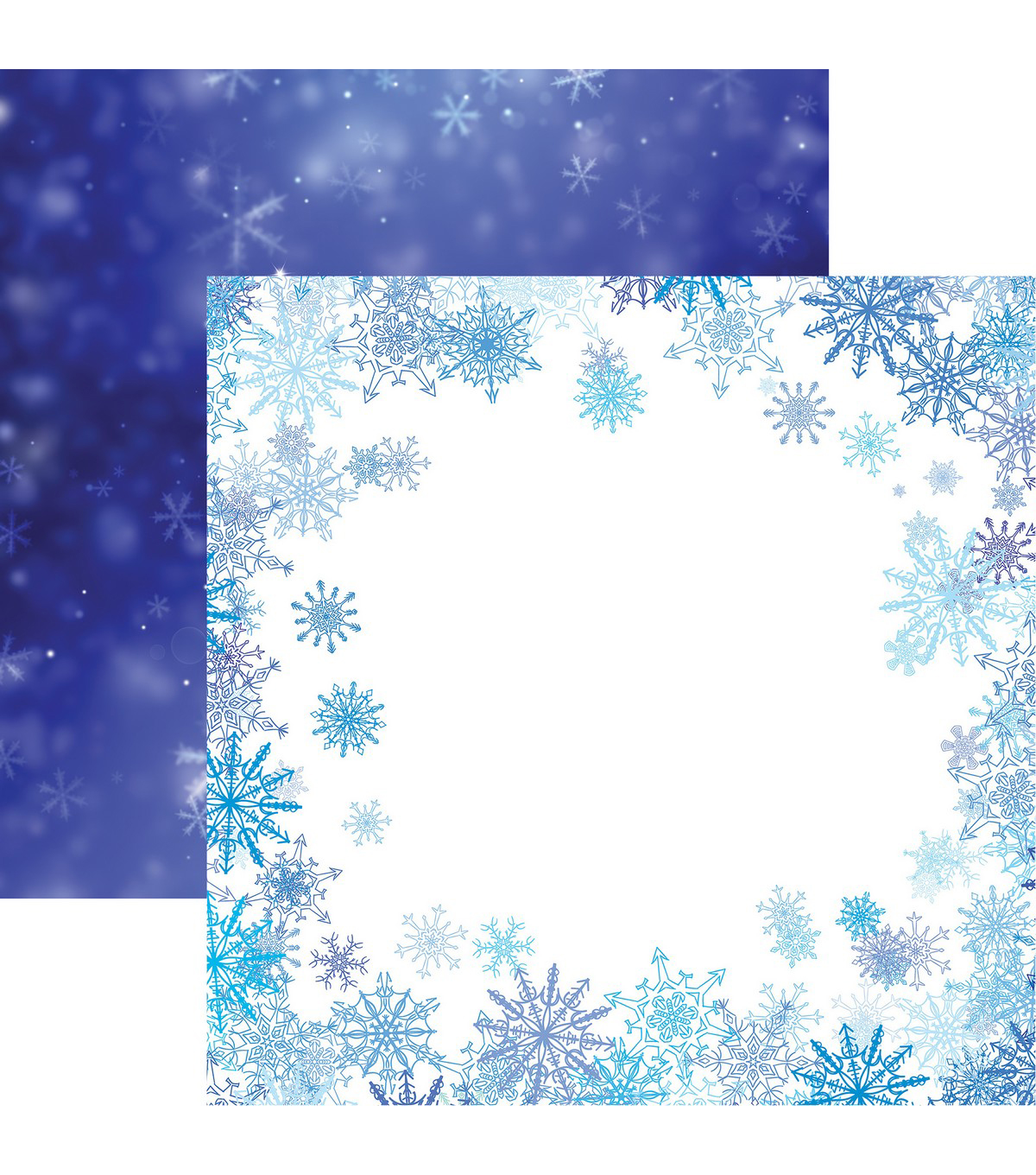 Jack Frost Double-Sided Cardstock 12\u0022X12\u0022-Frosted