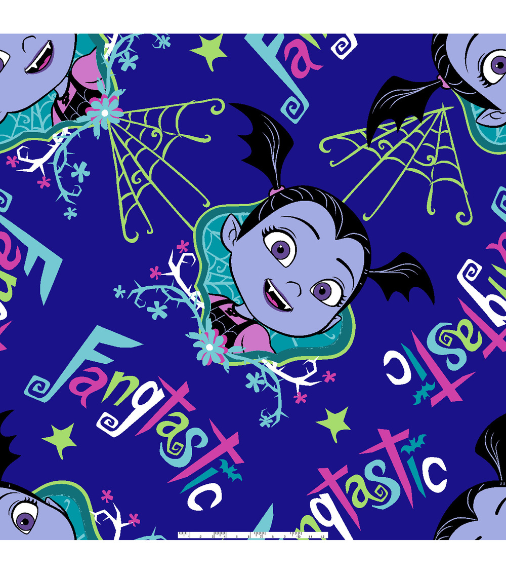 Disney Junior Vampirina Fleece Fabric 59\u0027\u0027-Fangtastic