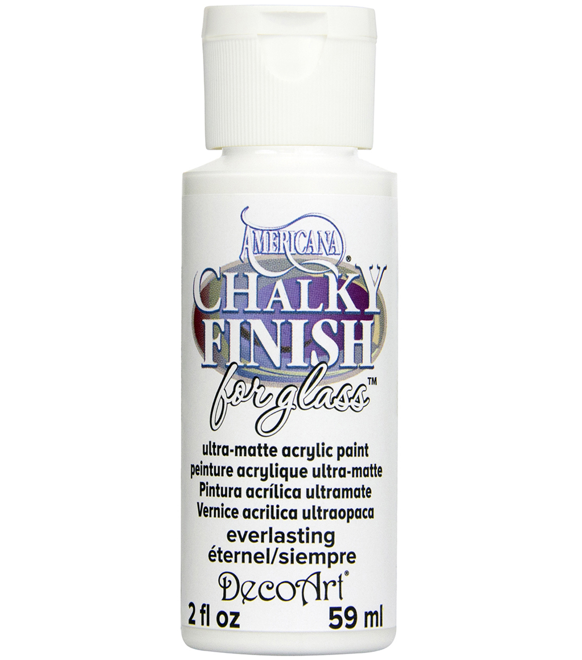 DecoArt Americana Chalky Finish For Glass 2oz