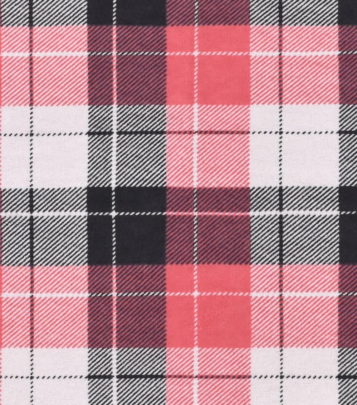 Snuggle Flannel Fabric 42\u0022-Coral Plaid