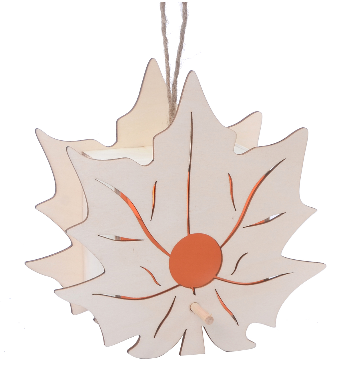 Birdhouse-Small Maple Leaf Lightup