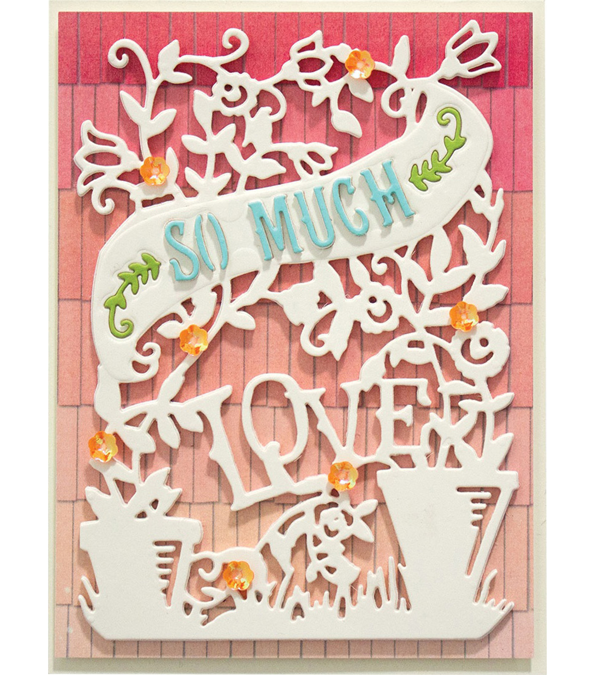 Spellbinders Shapeabilities Dies By Sharyn Sowell-Love Grows 3.75\u0022X5.25\u0022