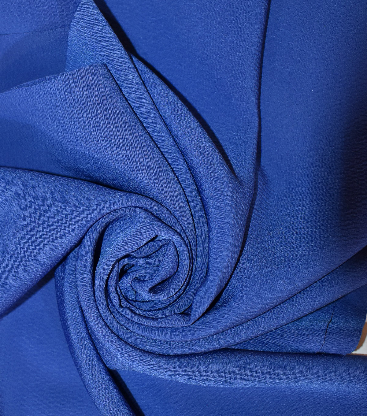 Silky Solids Textured Polyester Crepe Fabric-Solids, Sodalite Blue