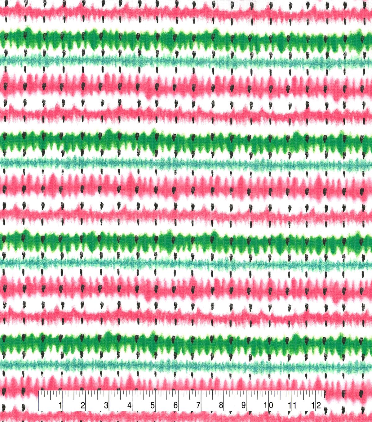 Tutti Fruitti Slice of Life Embellished Fabric 44\u0027\u0027-Watermelon Stripe