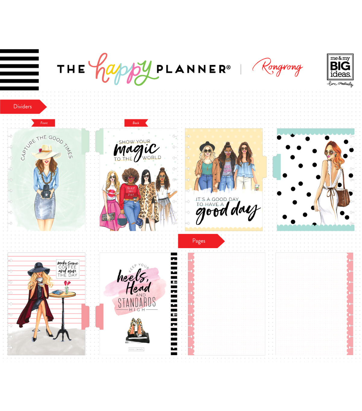 The Happy Planner x Rongrong Classic Happy Notes-Slay All Day