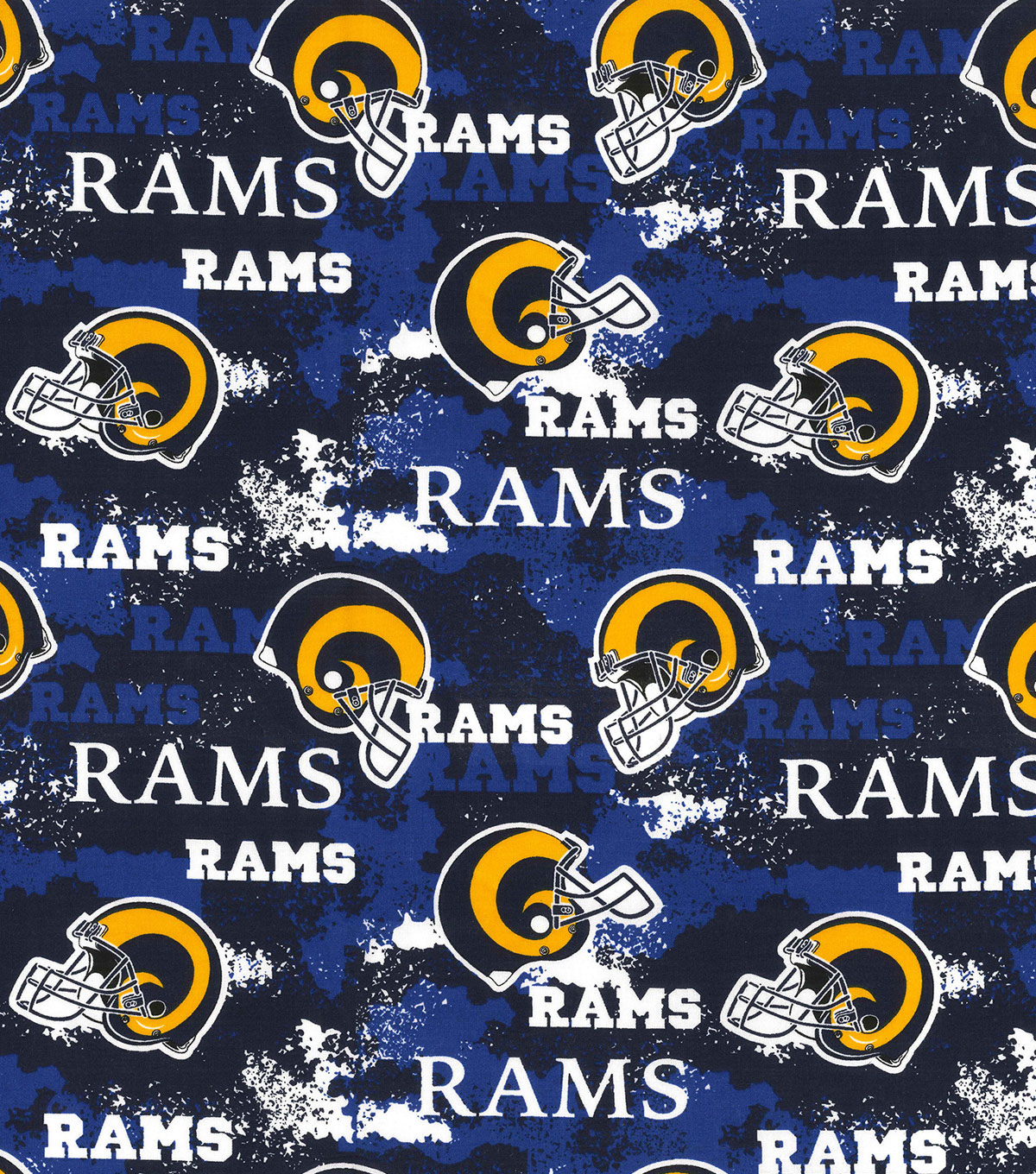 Los Angeles Rams Cotton Fabric-Distressed