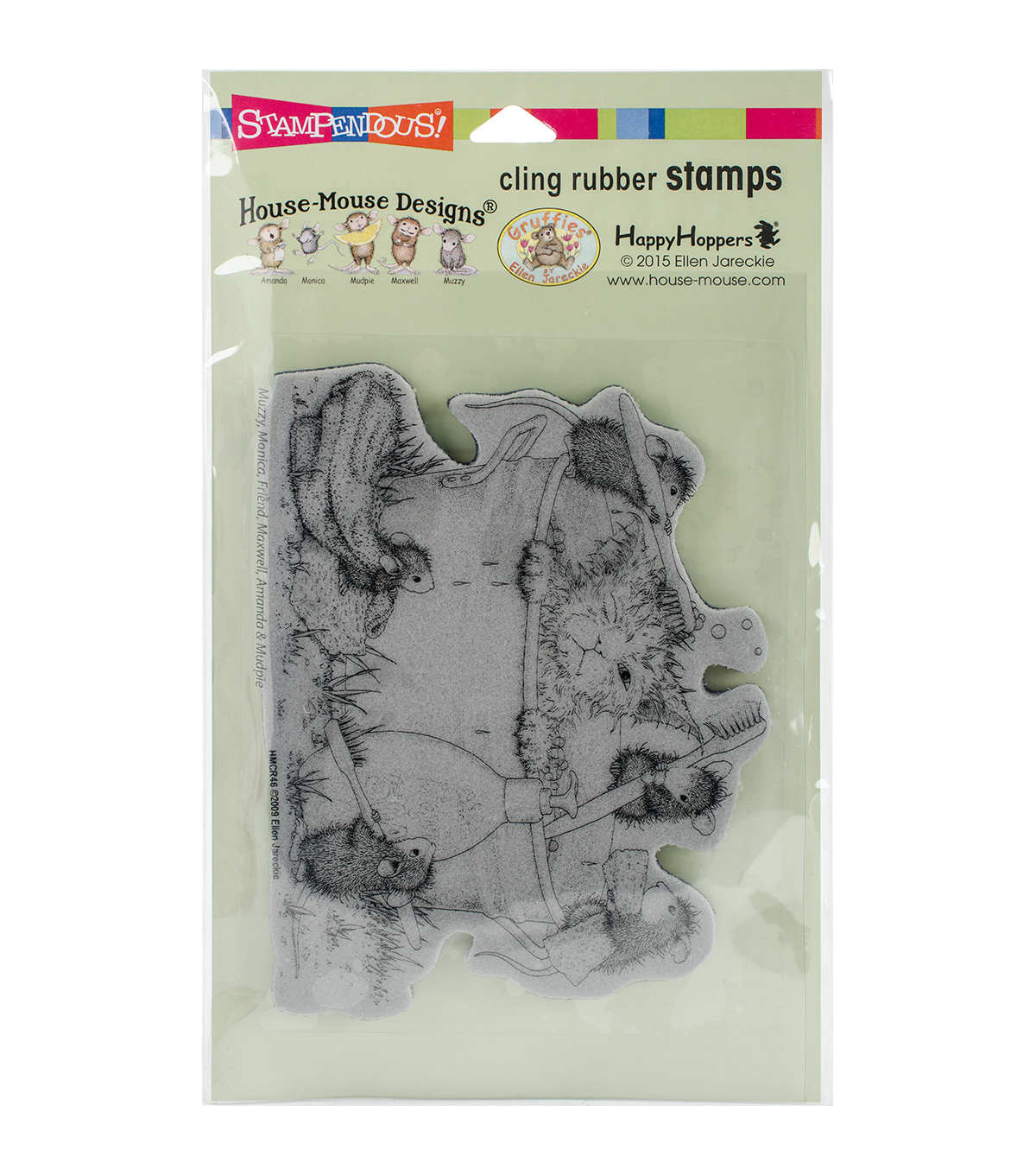 Stampendous House Mouse Cling Stamp-Kitty Cleaning