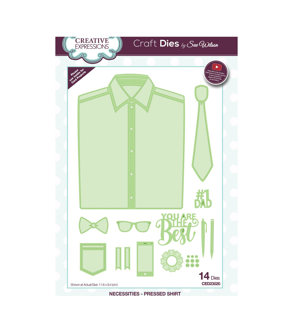 Creative Expressions Craft Dies By Sue Wilson-Pressed Shirt
