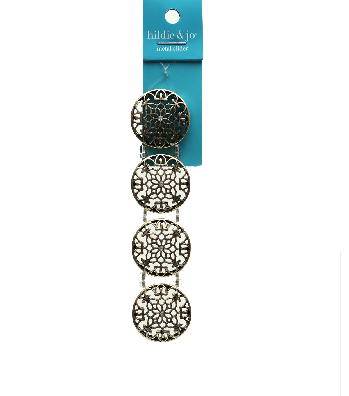 hildie & jo Strung Beads-Bronze Plated Circles