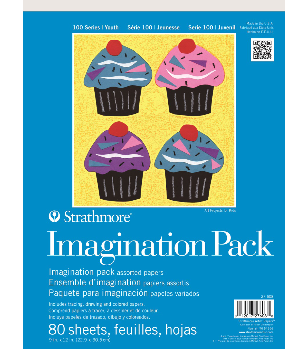 Strathmore 100 Series Youth Imagination Pack, 9x12, 80 Sheets