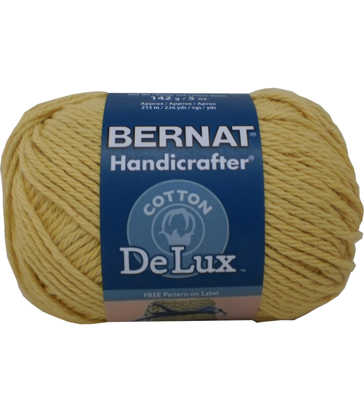 Bernat Handicrafter DeLux Cotton Yarn, Gold