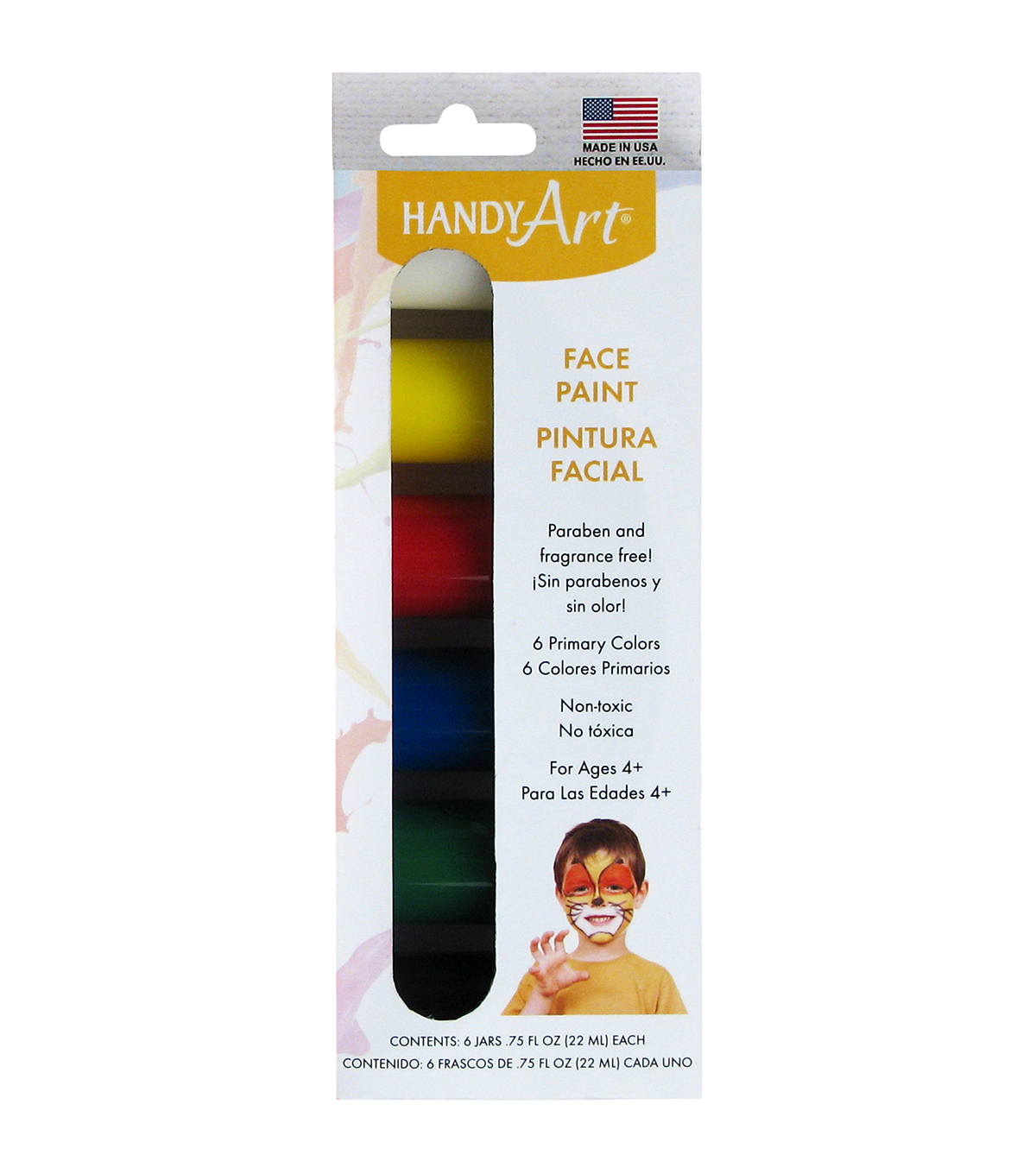 Handy Art Face Paint .75oz 6/Pkg-Primary