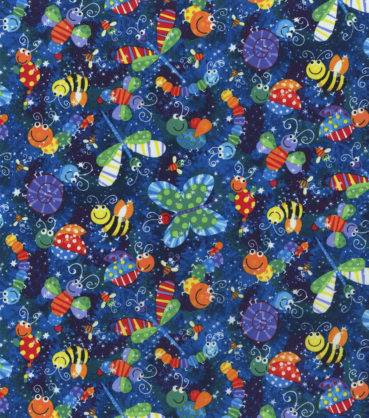 Novelty Cotton Fabric -Patterned Insects