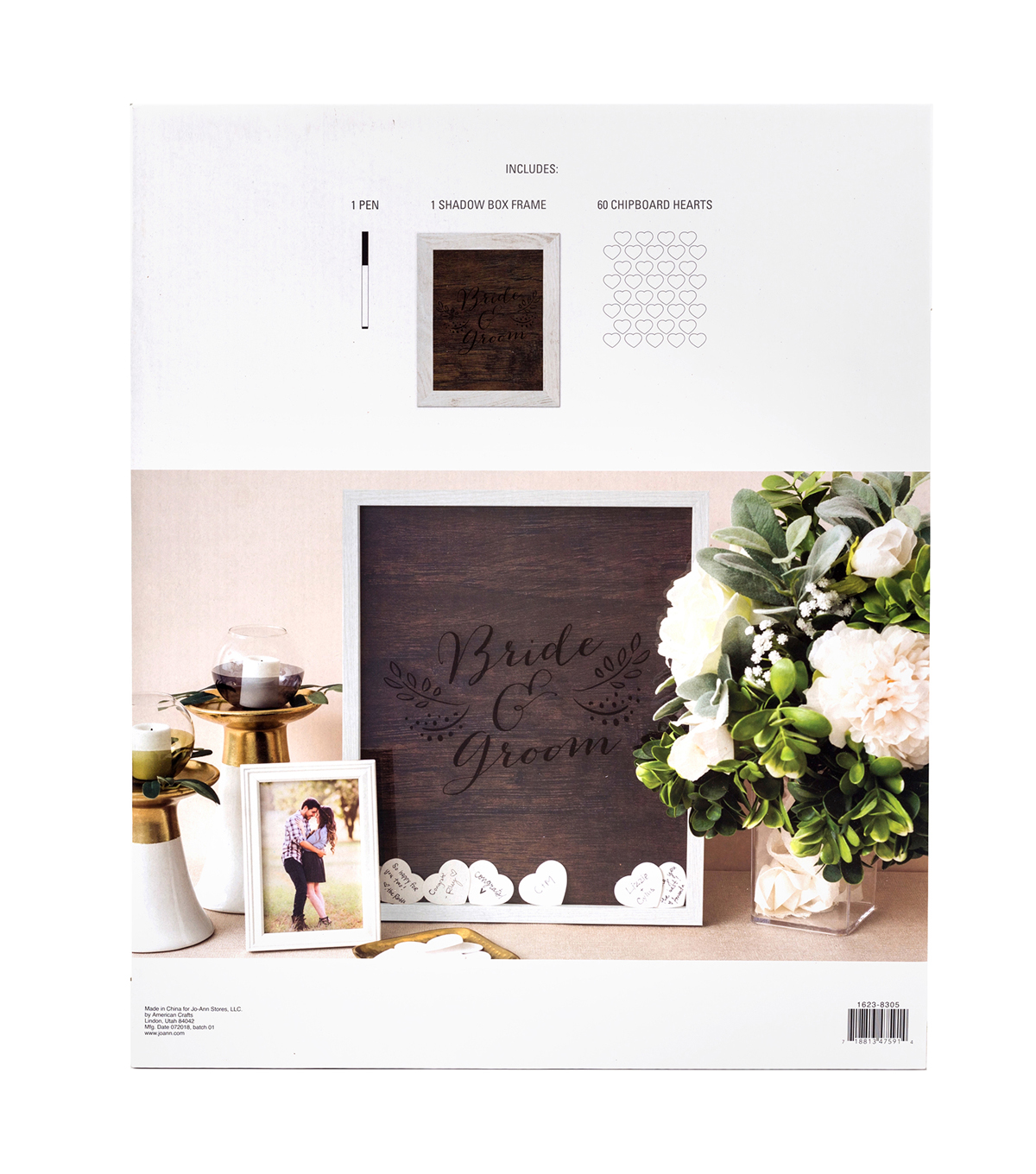 Save The Date Wall Heart Guest Book