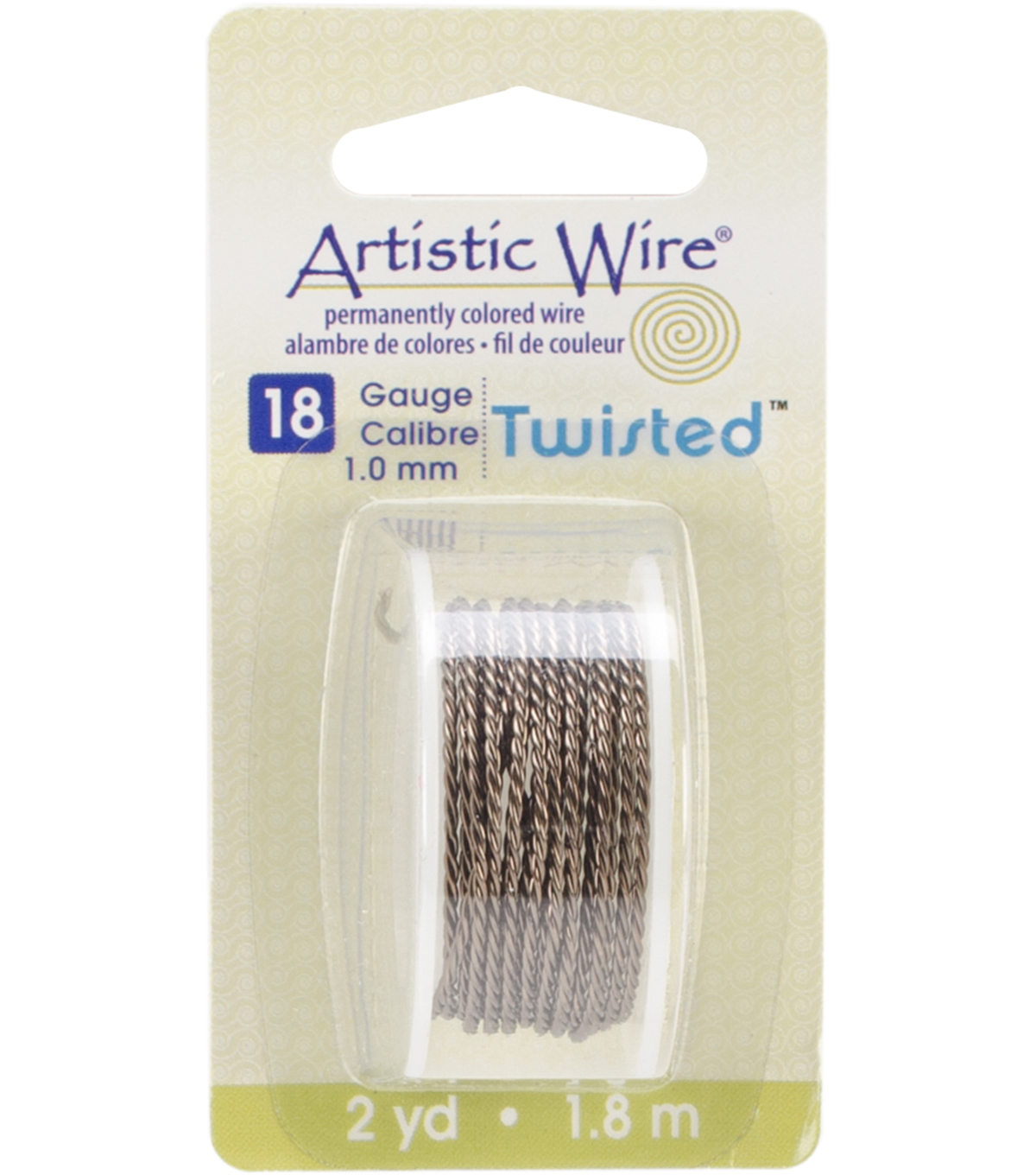Artistic Wire Twisted Round Wire 18 Gauge