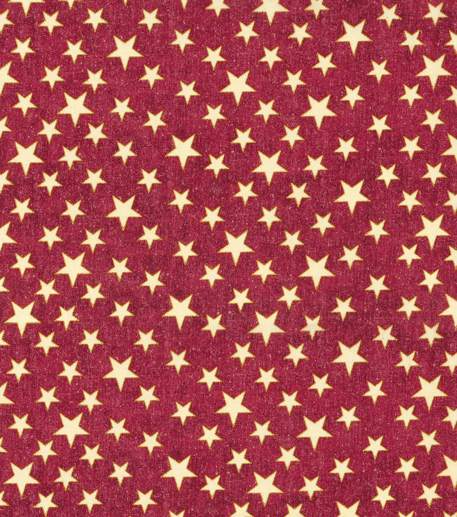Patriotic Cotton Fabric-Red Glitter Heart of America