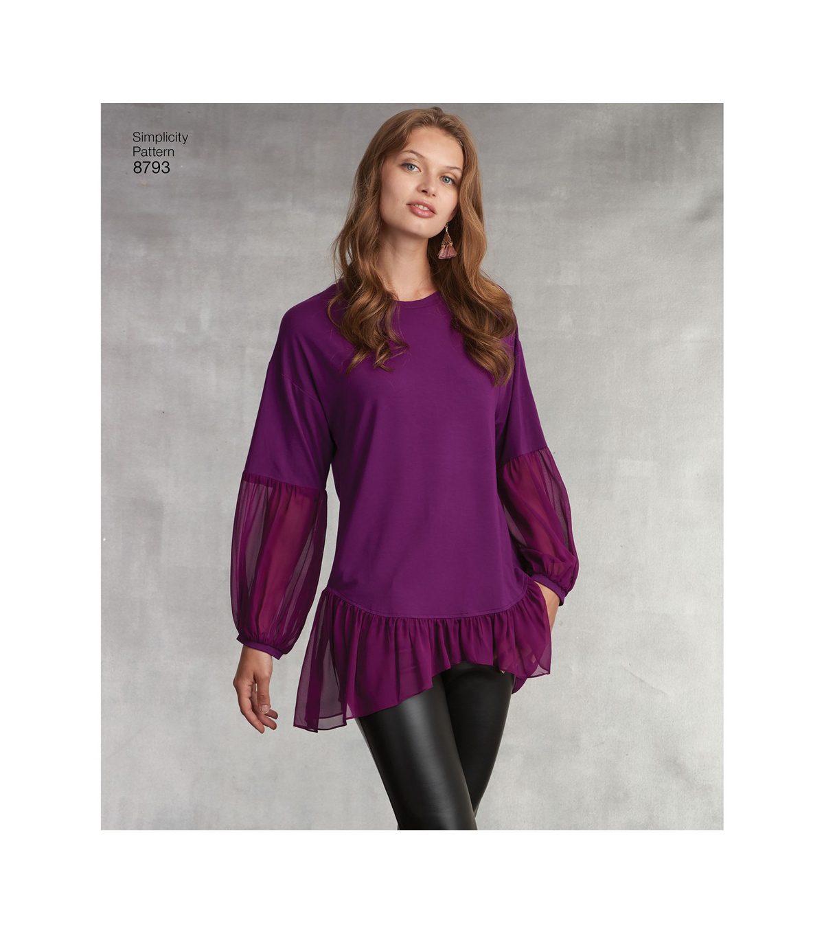 Simplicity Pattern 8793 Misses\u0027 Tunic with Leggings-Size A (XXS-XXL)