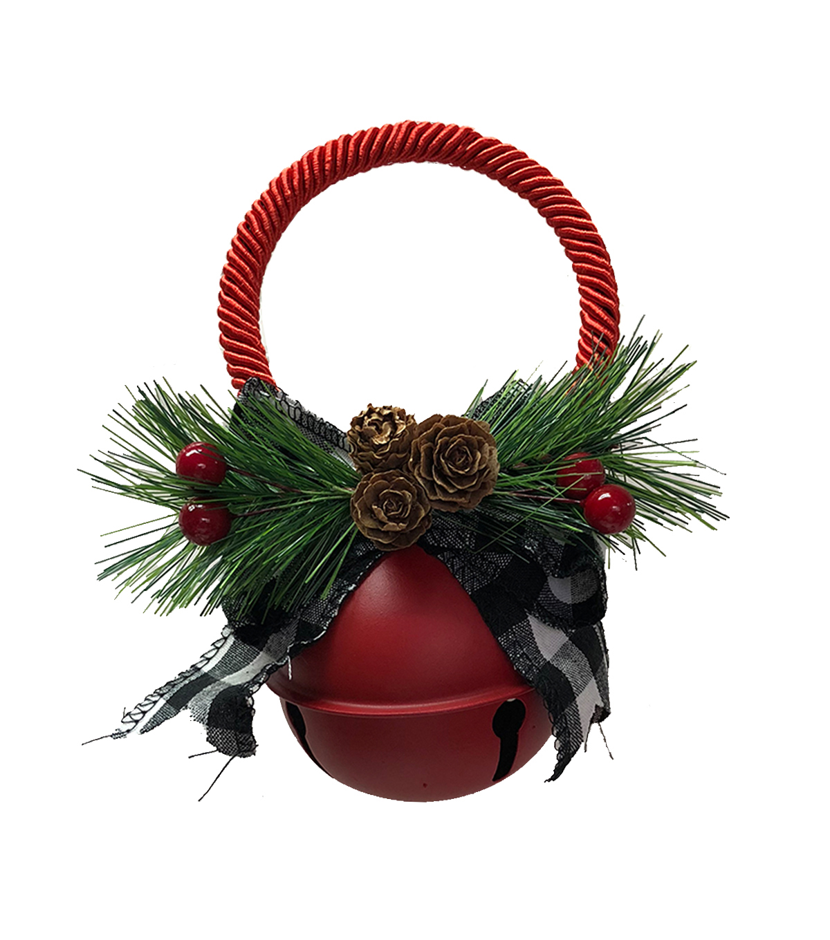 Maker\u0027s Holiday Christmas 70 mm Jingle Bell Door Knob Hanger-Matte Red