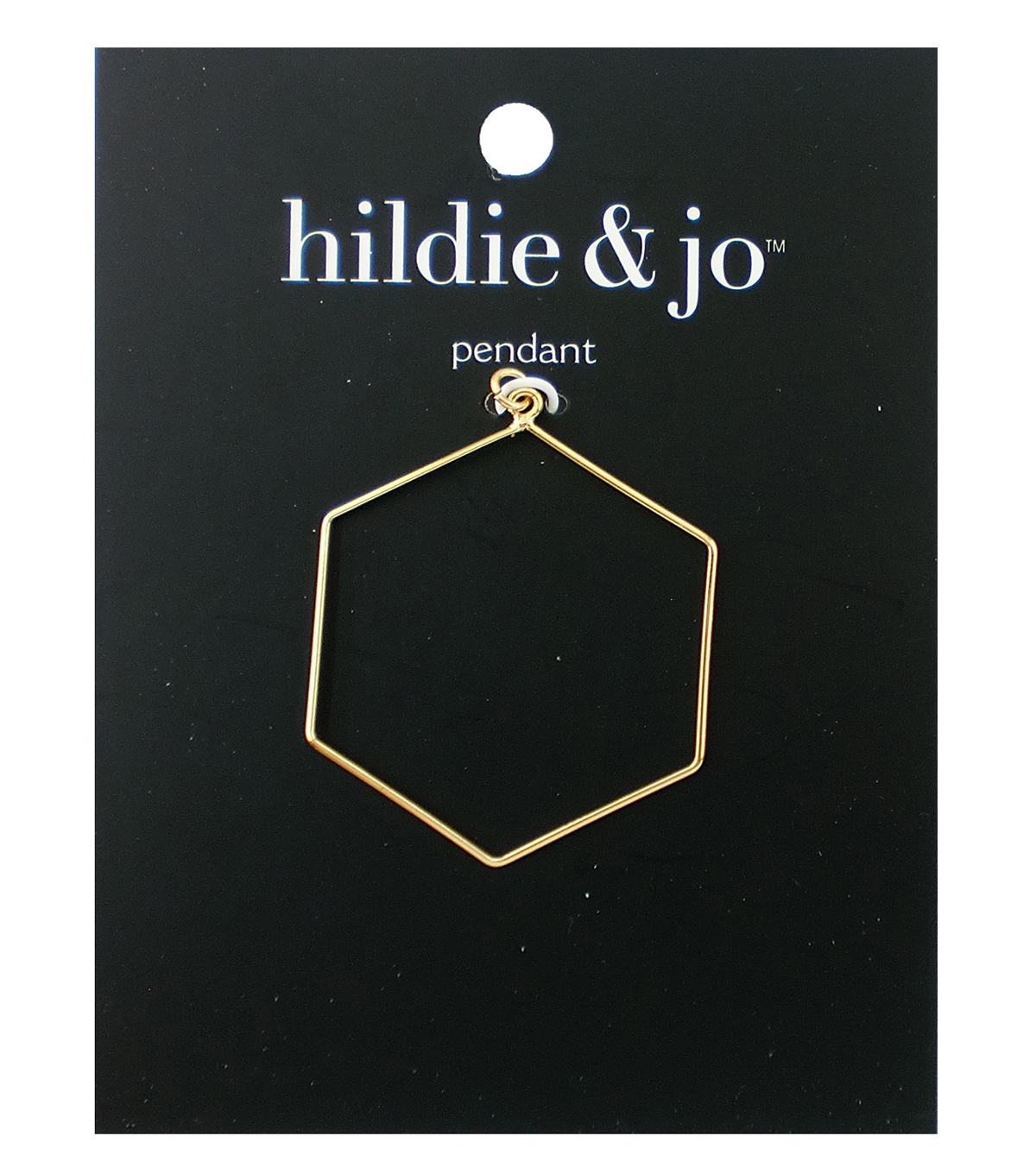 hildie & jo 1.25\u0027\u0027x1.5\u0027\u0027 Metal Open Hexagon Pendant-Gold