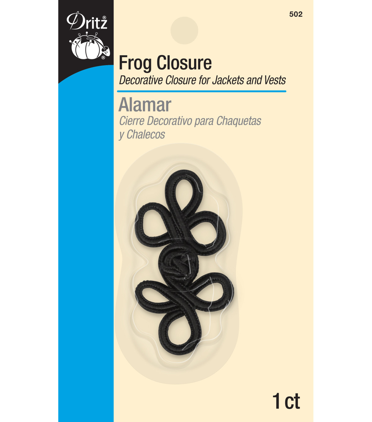Frog Closure 3-loop 2in Black