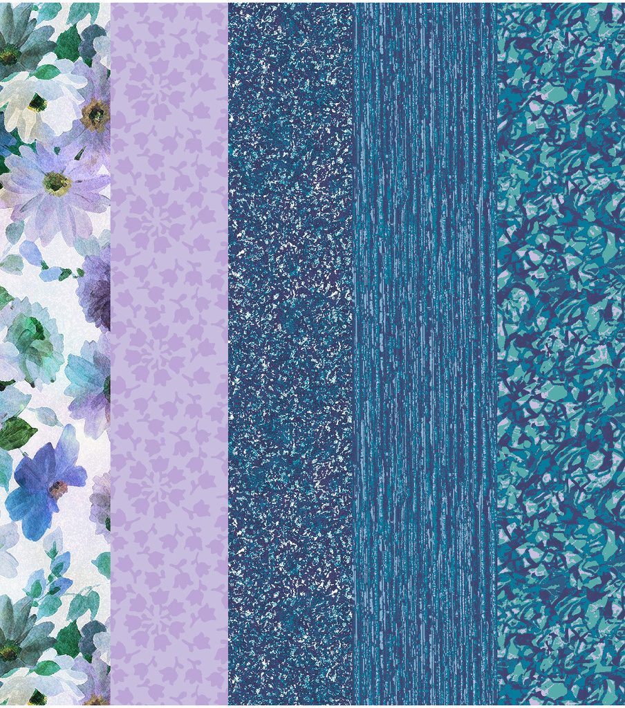 Concord House Pre-Cut Fabric Bundle-Blue Tonal