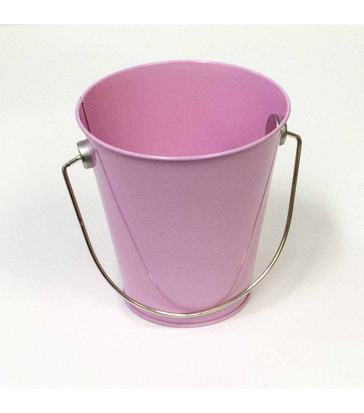Hampton Art Small Tin Pail-Pastel Pink